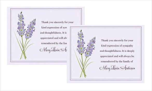 Thank You Card Etiquette Funeral