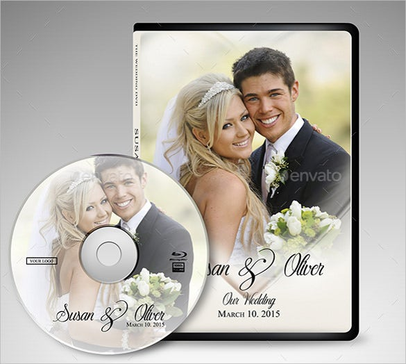 wedding dvd case psd format template download