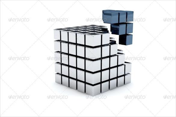 3d cubes bundle template