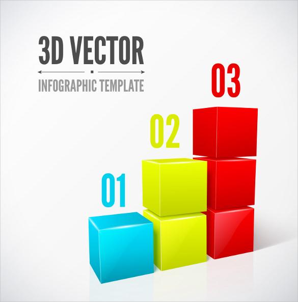 3d cubes infographics templates