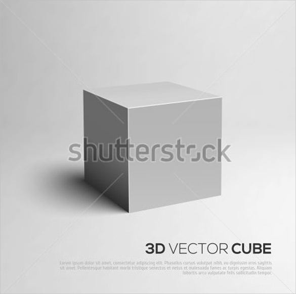 3d cube design template