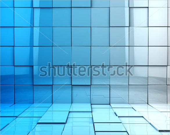 3d cubes background in blue toned template