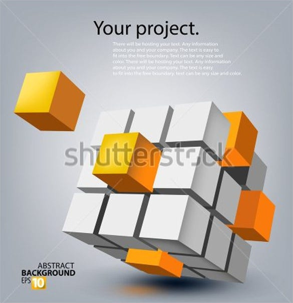 colourful 3d cube template