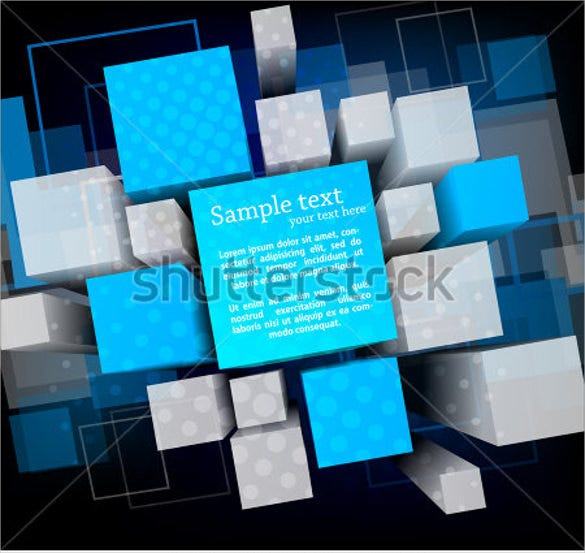 3d cubes and squares template