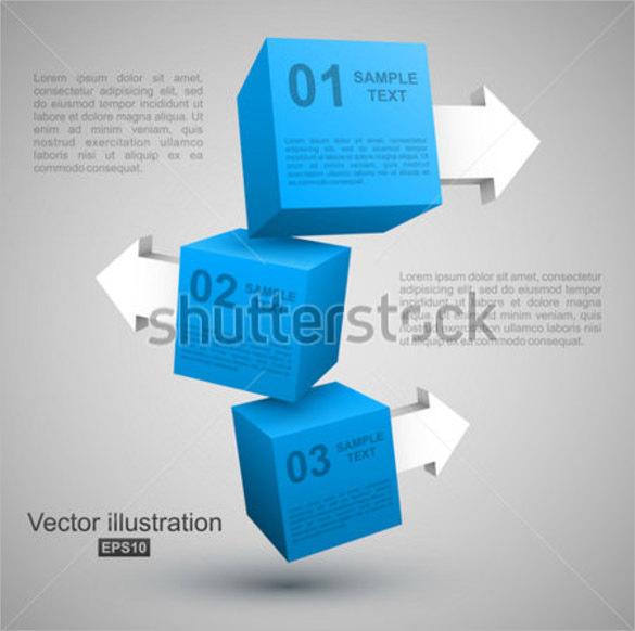 3d cube arrow template1