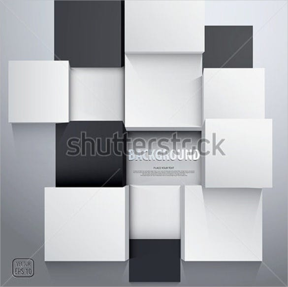 3d cube back ground template