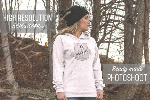 10 pullover hoodie mockups template psd