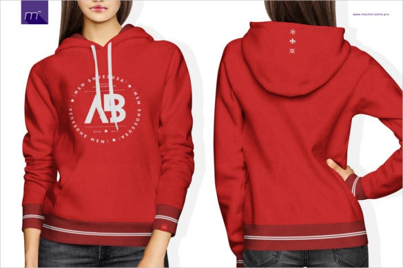 women hoodie mock up product in psd format download