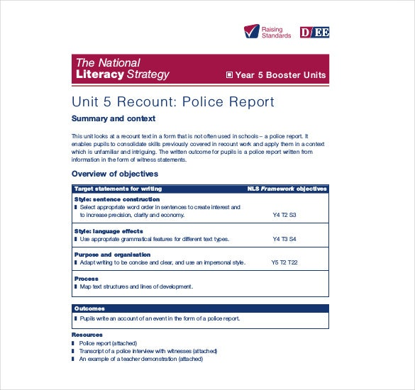 sample police report writing Always double-check your police reports for completeness potential problems include passive voice and failing to document probable cause.
