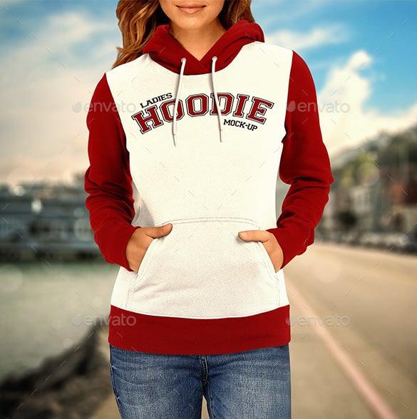 ladies hoodie mockup photoshop psd download