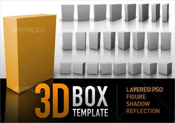 simple 3d box template