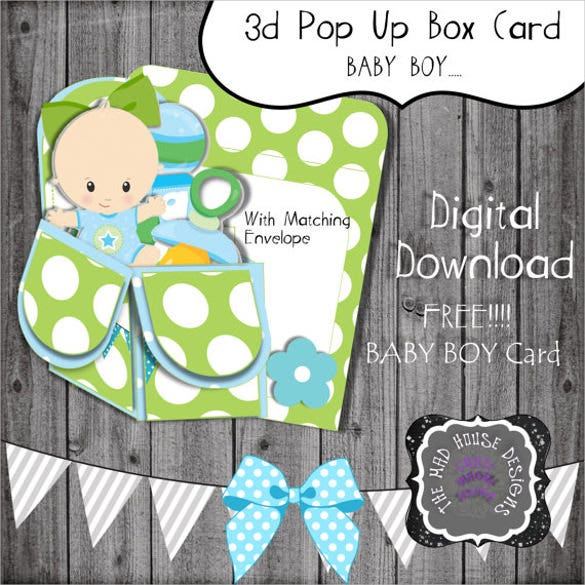 3d pop out box card template