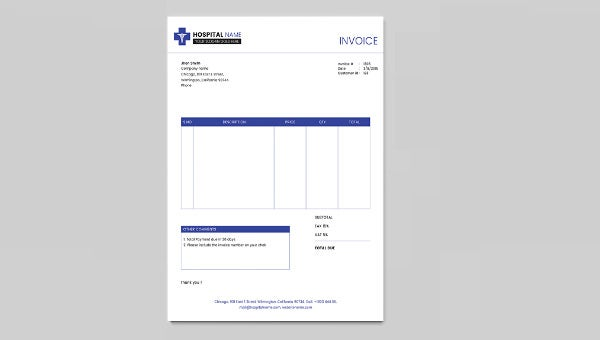 clinic_invoice template