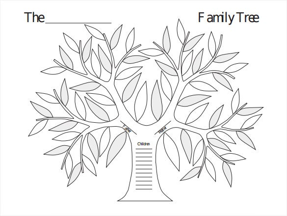 photo relating to Tree Template Printable named Blank Relatives Tree Template - 32+ No cost Term, PDF Data files
