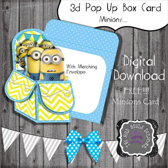 3d pop out box invitation template1