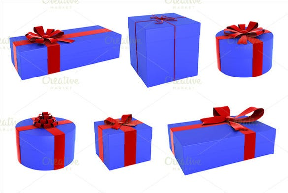 3d gift box template1