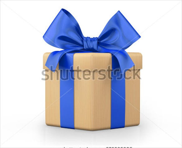 gift box 3d render template