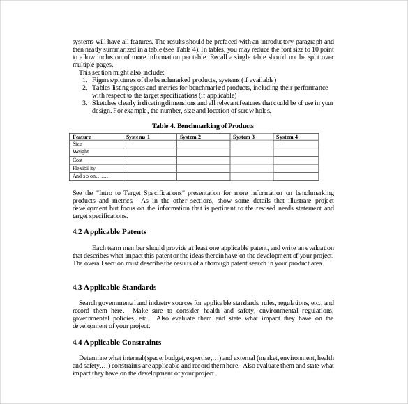 Sample Evaluation Report Design Project Report Template Example