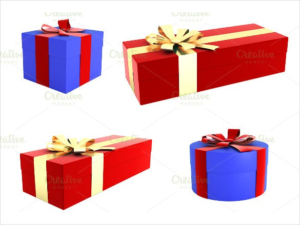 3d gift packing box template