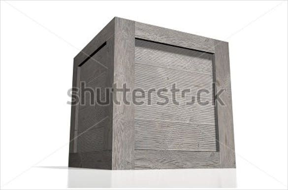 3d wooden box template