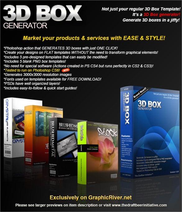 3d box generator templates