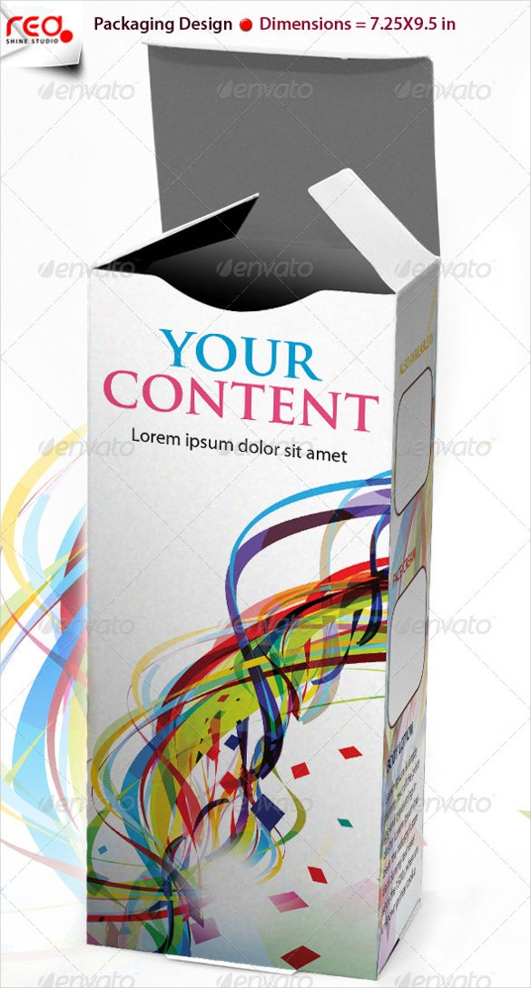 3d box design template 1