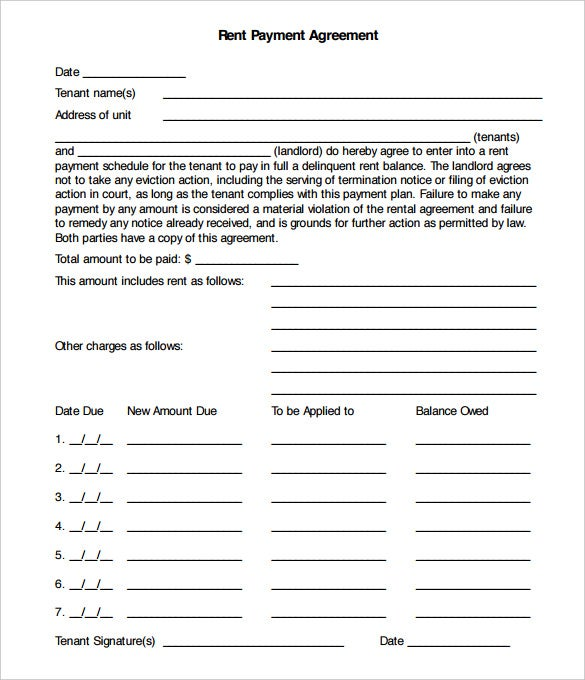 monthly service contract template - payment plan agreement template 12 free word pdf