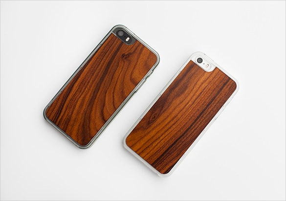 wood format phone case template