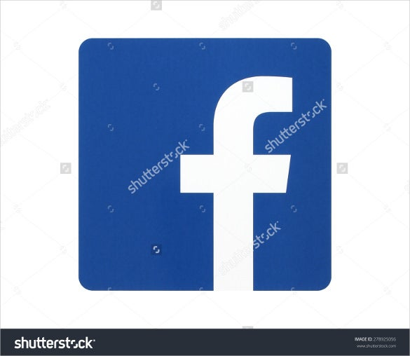 simple facebook icon template