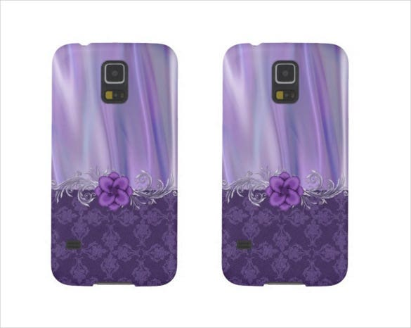 purple colour phone case example template download