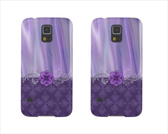 purple colour phone case example template download