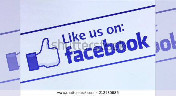 like button facebook icon template