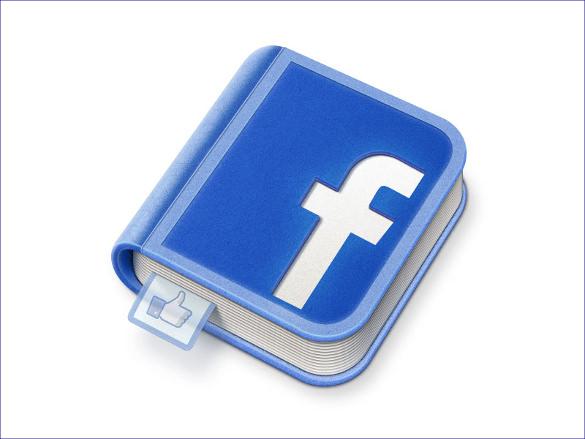 book designed facebook icon template
