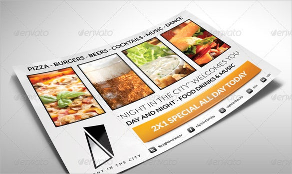 easy to edit half page flyer template