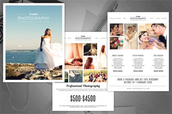 super cool photography pricing guide flyer template download