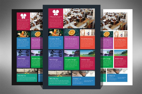 all business model half page flyer template - Half Page Brochure Template