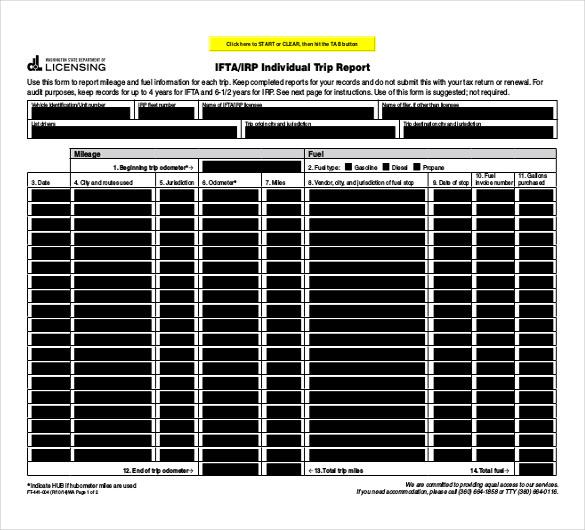individual trip report