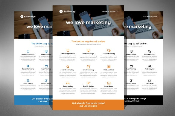 corporate model half page flyer template