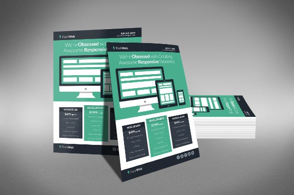 perfect web designing half page flyer template