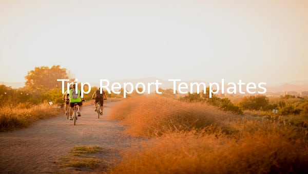 trip report templates