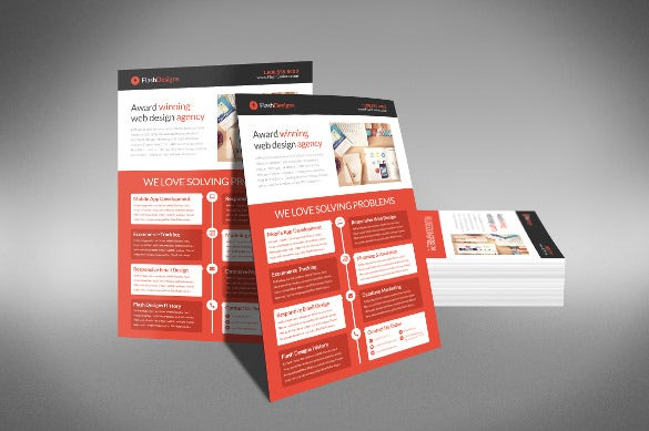 easy to print half page flyer template
