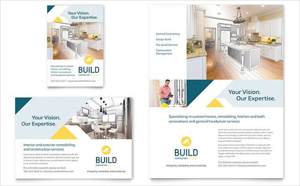 infrastructure model half page flyer template