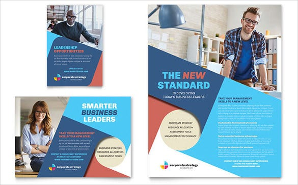 corporate strategy half page flyer template