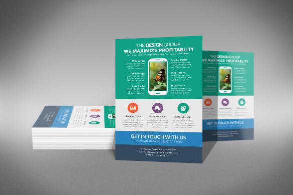 multi purpose business model half page flyer template