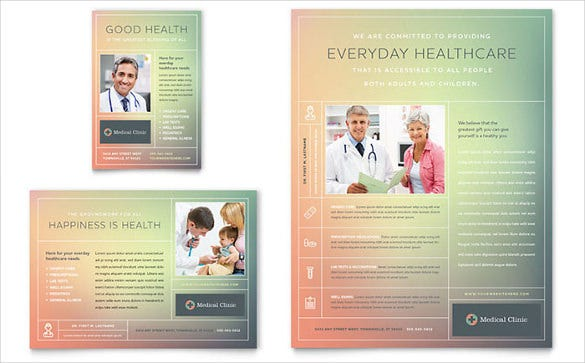 medical clinic half page flyer template