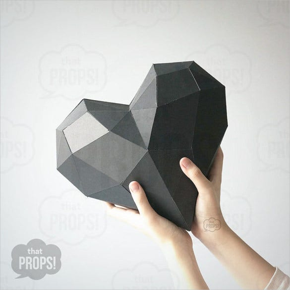 3d paper template 20 free psd eps format download