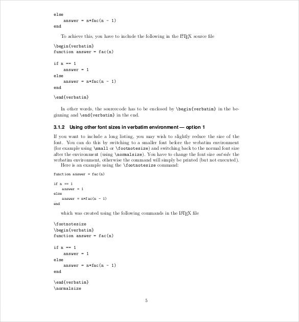 Sample Technical Report Template Latex