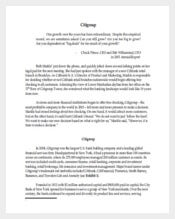Citibank Case Study Sample Word Template Free
