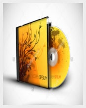 3D CD Case Example Template