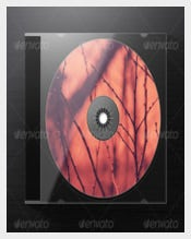 Photorealistic Jewel CD Case Example Template